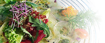 carpaccio from trout
